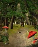 Μέσα στο πράσινο δάσος Στοκ Φωτογραφία