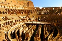 Μέσα στο ρωμαϊκό Colosseum Στοκ εικόνα με δικαίωμα ελεύθερης χρήσης