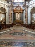 Μέσα της μπαρόκ εκκλησίας Αγίου Agnese σε Agone στην πλατεία Navona στη Ρώμη, Ιταλία στοκ εικόνα με δικαίωμα ελεύθερης χρήσης
