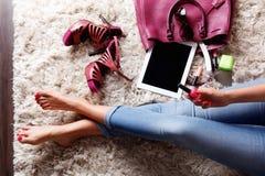 Μέσα της τσάντας μιας γυναίκας στοκ φωτογραφίες με δικαίωμα ελεύθερης χρήσης
