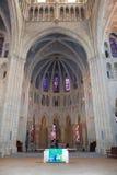Μέσα του καθεδρικού ναού της Notre-Dame, Λωζάνη, Ελβετία Στοκ Φωτογραφίες
