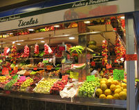 Μέσα Olivar στην αγορά Στοκ φωτογραφία με δικαίωμα ελεύθερης χρήσης