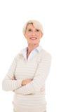 Μέση γυναίκα ηλικίας που ανατρέχει Στοκ εικόνες με δικαίωμα ελεύθερης χρήσης