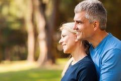 Μέση ηλικίας σύζυγος συζύγων στοκ φωτογραφία με δικαίωμα ελεύθερης χρήσης