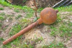 Μέση κονίαμα τάφρων ή βόμβα Toffe Apple Στοκ φωτογραφία με δικαίωμα ελεύθερης χρήσης