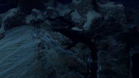 Μέση φραγμάτων της κοιλάδας στη νύχτα απόθεμα βίντεο