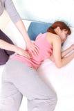 Μέση massage  Στοκ φωτογραφία με δικαίωμα ελεύθερης χρήσης