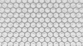 Μέσος πυροβολισμός μιας μεγάλης σειράς άσπρων φλυτζανιών καφέ ελεύθερη απεικόνιση δικαιώματος