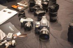 Μέσο υπόβαθρο ψηφιακών κάμερα σχήματος expositionon Στοκ Εικόνες