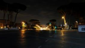 Μέσω της άποψης Fori Imperiale dei του Coliseum nigh απόθεμα βίντεο