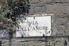 Μέσω της πινακίδας dell'Amore στοκ φωτογραφίες
