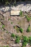 Μέσω του σημαδιού Appia Στοκ Εικόνες