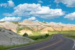 Μέσω του Badlands στοκ εικόνες