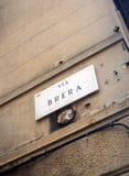 Μέσω του brera Στοκ Εικόνες