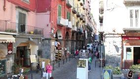 Μέσω του dei Tribunali στη Νάπολη απόθεμα βίντεο