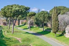 Μέσω Appia Antica Ρώμη Στοκ εικόνες με δικαίωμα ελεύθερης χρήσης