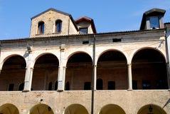 Μέσω Cesarotti και ενός αρχαίου κτηρίου δίπλα στη βασιλική του ST Anthony στην Πάδοβα στο Βένετο (Ιταλία) Στοκ φωτογραφία με δικαίωμα ελεύθερης χρήσης