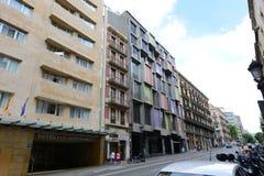 Μέσω Laietana, παλαιά πόλη της Βαρκελώνης, Ισπανία Στοκ Εικόνες