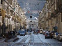 Μέσω Po στο Τορίνο Στοκ εικόνα με δικαίωμα ελεύθερης χρήσης