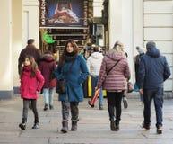 Μέσω Po της κιονοστοιχίας στο Τορίνο Στοκ φωτογραφία με δικαίωμα ελεύθερης χρήσης