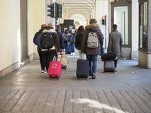 Μέσω Po της κιονοστοιχίας στο Τορίνο Στοκ φωτογραφίες με δικαίωμα ελεύθερης χρήσης