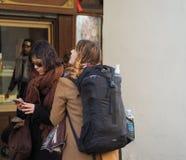 Μέσω Po της κιονοστοιχίας στο Τορίνο Στοκ Φωτογραφία