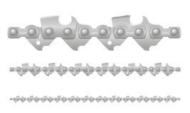 Μέταλλο αλυσίδων αλυσιδοπριόνων και αισθητά ακονισμένη διανυσματική απεικόνιση απεικόνιση αποθεμάτων