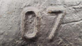 Μέταλλο αριθμός επτά Σύσταση του σκουριασμένου μετάλλου υπό μορφή σχημάτων 07 Στοκ Εικόνα