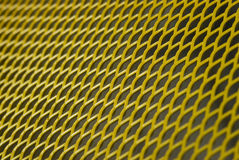 μέταλλο δικτύου κίτρινο Στοκ Εικόνες