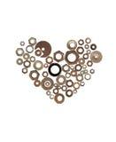 μέταλλο καρδιών Στοκ Εικόνα