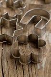 μέταλλο κοπτών μπισκότων Στοκ Εικόνες