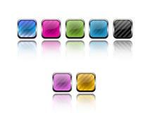 μέταλλο κουμπιών Στοκ Φωτογραφία