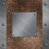 μέταλλο πλαισίων διαμαντιών αργιλίου που οξυδώνεται Στοκ Εικόνες