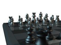 μέταλλο σκακιού Στοκ Φωτογραφίες