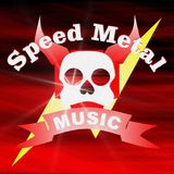Μέταλλο ταχύτητας μουσικής Στοκ φωτογραφία με δικαίωμα ελεύθερης χρήσης