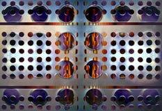 μέταλλο τρυπών λεπτομέρε&iot Στοκ Εικόνες