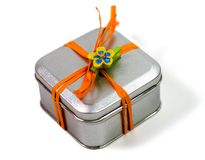 μέταλλο δώρων κιβωτίων Στοκ Εικόνες