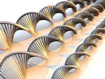 μέταλλο DNA Στοκ Φωτογραφίες