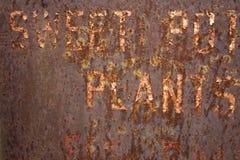 μέταλλο ανασκόπησης που οξυδώνεται Στοκ φωτογραφία με δικαίωμα ελεύθερης χρήσης