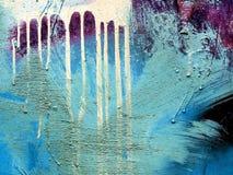 Μέταλλο επιφάνειας με το παλαιό χρώμα Στοκ Φωτογραφίες