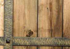 Μέταλλο και ξύλο Στοκ Φωτογραφίες