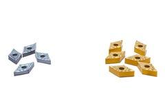 Μέταλλο και χρυσά εργαλεία τόρνου για τη βαριά βιομηχανία Στοκ εικόνα με δικαίωμα ελεύθερης χρήσης