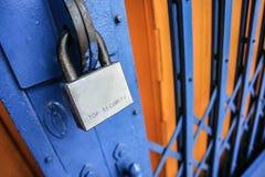 μέταλλο κλειδωμάτων Στοκ φωτογραφίες με δικαίωμα ελεύθερης χρήσης