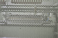 Μέταλλο με τις στρογγυλές τρύπες Στοκ φωτογραφία με δικαίωμα ελεύθερης χρήσης