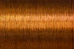Μέταλλο σύστασης στροφίων καλωδίων χαλκού Στοκ Φωτογραφίες