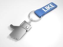 Μέταλλο keychain με το σύμβολο όπως Στοκ Φωτογραφίες