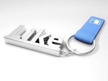 Μέταλλο keychain με το σύμβολο όπως Στοκ Εικόνες