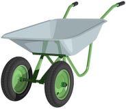 Ένα wheelbarrow μετάλλων που απομονώνεται. Απεικόνιση Στοκ φωτογραφία με δικαίωμα ελεύθερης χρήσης