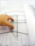 μέτρηση σχεδιαγραμμάτων Στοκ φωτογραφία με δικαίωμα ελεύθερης χρήσης