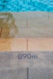Μέτρηση της πισίνας Στοκ φωτογραφία με δικαίωμα ελεύθερης χρήσης